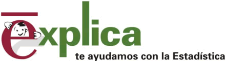 Logotipo Explica: te ayudamos con la estadistica